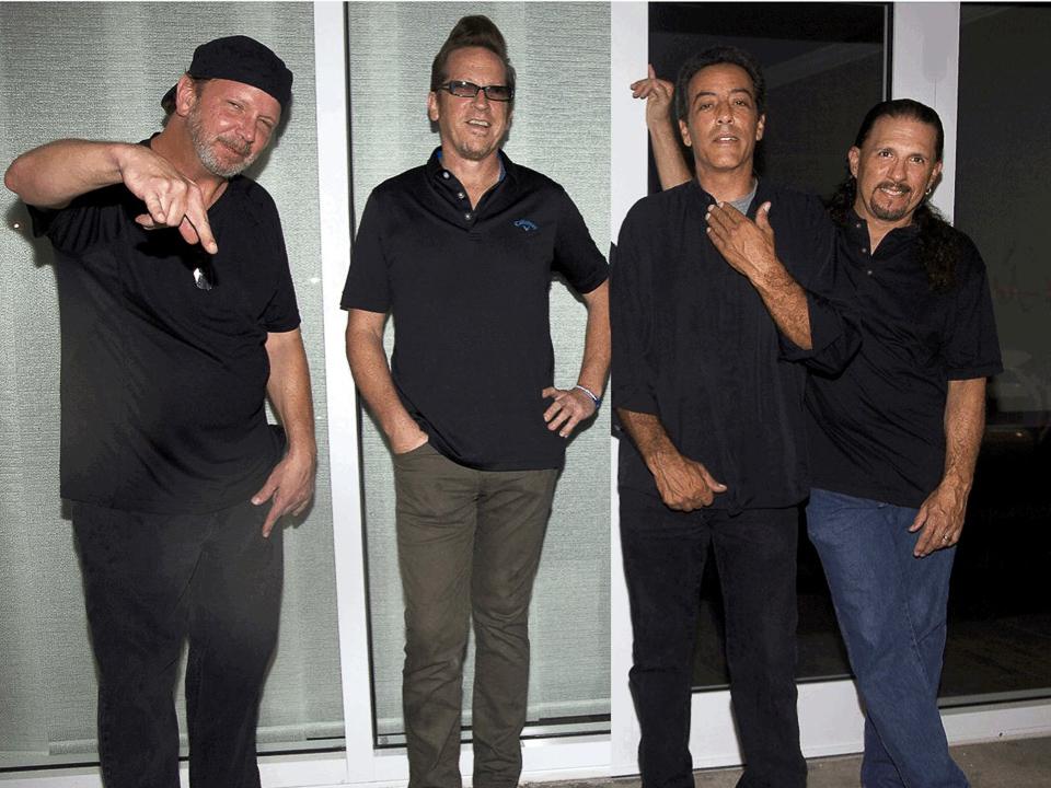 Four musicians in Bus Fulla Monkeys band